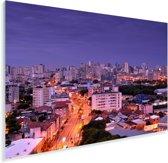 Straten van Porto Alegre onder paarse lucht in Brazilië Plexiglas 30x20 cm - klein - Foto print op Glas (Plexiglas wanddecoratie)