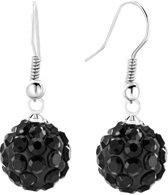 Fako Bijoux® - Oorbellen - Disco Dots - Hanger - Zwart