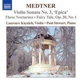 Medtner: Works For Violin & Piano 1
