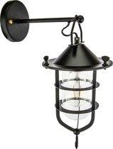 Groenovatie Talmis Industrieel Design Buiten Wandlamp E27 Fitting - 400x250x115 mm - Zwart
