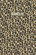 Amelie: Personalized Notebook - Leopard Print (Animal Pattern). Blank College Ruled (Lined) Journal for Notes, Journaling, Dia