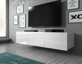 Meubella - TV-Meubel Calgary - Wit - 150 cm - Hangend
