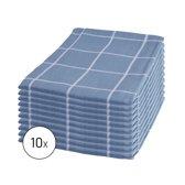 Byrklund Set Blauw - 10x Theedoek 50x70cm
