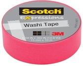 Scotch Expressions tape 15 mm x 10 m roze