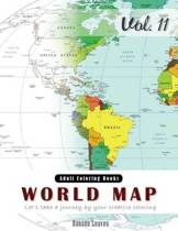 World Map Coloring Book for Stress Relief & Mind Relaxation, Stay Focus Therapy