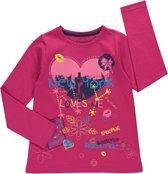 Losan Meisjes Shirt Roze met print en steentjes - H11 - Maat 128