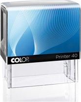 Colop Stempel 40 Blauw | Stempel laten maken | Stempels bestellen met logo en tekst | Afdrukformaat 25 x 59 mm