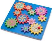 Puzzel met roterende tandwielen