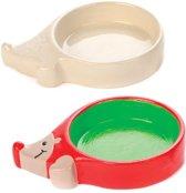 Egelvoederbakjes van porselein. Ideaal als knutsel- en decoratiepakket voor jongens en meisjes (2 stuks per doos)