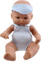 Falca Babypop Newborn 16 Cm Meisjes Blauw