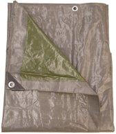 Talen Tools dekzeil 6x4 m grijs groen - 140gr/m2 - professioneel