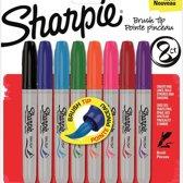 Sharpie brush tip - set van 8 permanent markers