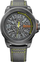 Boss Orange New York HO1513344 - Horloge - Canvas - 50mm - Grijs