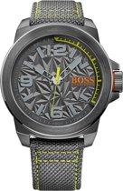 BOSS New York HO1513344 Horloge - Canvas - Grijs - Ø 50 mm