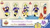 Ravensburger houten puzzel Brandweerman Sam en zijn vrienden - 5 stukjes