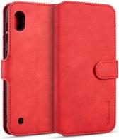 Samsung Galaxy A10 Portemonnee Hoesje Rood