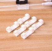 Originele Zelfklevende Kabelclips – Verbeterde plakkracht - Kabelklemmen – 20 stuks - Kabelklemmetjes  - 3M plakzijde – KabelOrganizer - Wit