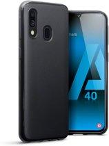 Hoesje voor Samsung Galaxy A40, gel case, mat zwart