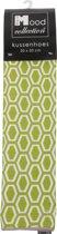 In The Mood Sierkussenhoes Honingraat - 50x50 cm - LimeIvoor