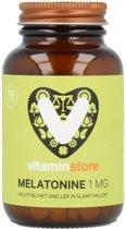 Vitaminstore - Melatonine 1 mg - 120 zuigtabletten - Helpt bij het sneller in slaap vallen - Verlichting jetlag - Voedingssupplement