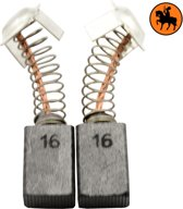 Koolborstelset voor Hitachi zaag CM 4 - 7x11x17mm - Vervangt 999043 & 999073