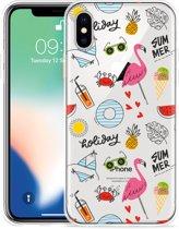 Apple iPhone Xs Max Hoesje Summer Flamingo