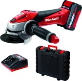 EINHELL Accu Haakse Slijper TE-AG 18 Li Kit - Power-X-Change - 18 V - Ø115 mm - Inclusief 1x 3,0 Ah Accu / 1x lader / koffer