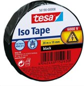 Tesa elektrische isolatie-tape, 20m x 19mm, zwart
