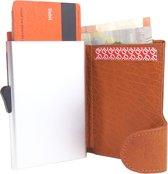 Businessme Cardprotector Creditcardhouder Leer - Uitschuifbare Pasjeshouder - 9 Pasjes - RFID - Bruin