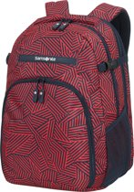Samsonite Rugzak Met Laptopvak - Rewind Laptop Backpack L Uitbreidbaar Capri Red Stripes