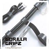 Gorilla Gripz | Klittenband kabelbinder 5 m rol Zwart Kabel Management  Cable Tie