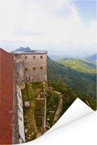 Uitzicht over het Citadelle Laferrière en het mooie groene gebergte Poster 120x180 cm - Foto print op Poster (wanddecoratie woonkamer / slaapkamer) XXL / Groot formaat!