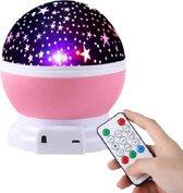 Muziek roze Nachtlampje verlichting Sterrenhemel projector - Met USB oplaadkabel