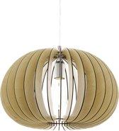 EGLO Cossano - Hanglamp - 1 Lichts - Ø450mm. - Nikkel-Mat - Ahorn