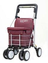 Carlett Lett800 Boodschappentrolley - 29 L - 4 wielen - zitten - opvouwbaar - veiligheidsrem - donker rood