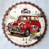 Decoratie bord Mini Cooper 45