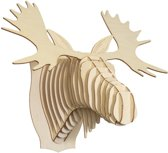 Fred Wooden Moose Head (Small)