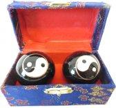 Chinese Meridiaankogels 3,5 cm Yin Yang in kistje