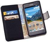 HC Bookcase Flip Wallet Telefoonhoesje Huawei Ascend Y530 Zwart