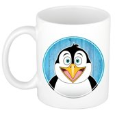 1x Pinguins beker / mok - 300 ml keramiek - pinguin dieren bekers voor kinderen