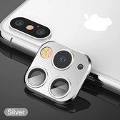 voor iphone X/Xs/Xs Max voorzet camera cover iPhone 11 pro stijl - zilver