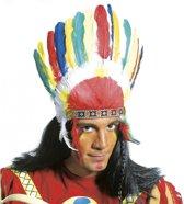 Indianen tooi met gekleurde veren