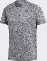 adidas D2M Heathered Tee BK0933, Mannen, Grijs, T-shirt maat: XL EU