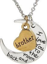 Fako Bijoux® - Ketting - Brother, I Love You To The Moon And Back