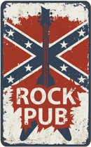 Signs-USA - Rebel Rock Pub - 48,5 x 30 cm - retro wandbord - metaal