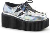Creeper-218 met schoenveters hologram kleurig vegan leer - Gothic emo - (EU 36 = US 6) - Demonia