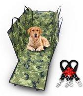 Honden beschermhoes + 2 gratis veiligheidsriemen - achterbank beschermhoes - gemakkelijk schoon te maken - kofferbak beschermhoes - Camouflage - honden beschermhoes voor in de auto - beschermhoes - Een schone auto na een avontuur met de hond