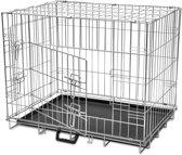 VidaXL Opvouwbare Metalen Hondenbench - 55 x 76 x 61 cm