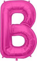 Letter B Magenta lucht 41cm
