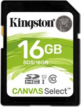 Kingston Technology Canvas Select 16GB SDHC UHS-I Klasse 10 flashgeheugen